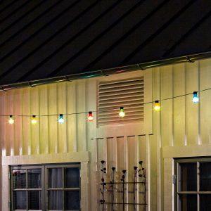 Ljusslinga Biergarten 10 färgade LED-lampor