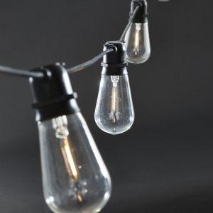 Ljusslinga E27 oval LED (Svart)