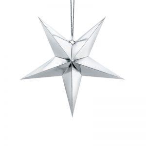 Julstjärna Silver 30 cm