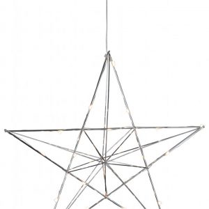 Line metallstjärna LED (Förkromad/blank)