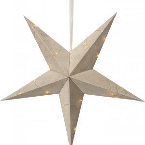 Velvet pappersstjärna 60cm (Beige/brun)