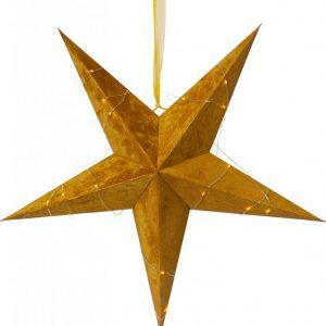 Velvet pappersstjärna 60cm (Mässing/guld)