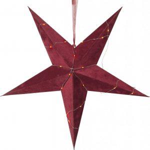 Velvet pappersstjärna 60cm (Röd)