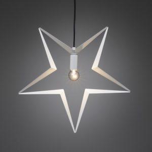 Metallstjärna 45cm (Vit)