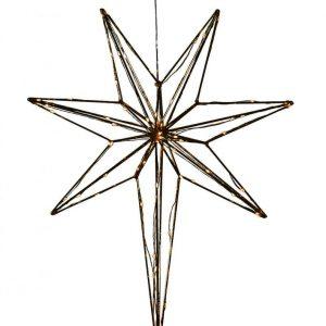 Betlehem metallstjärna 44cm (Svart)