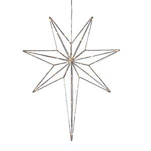 Betlehem metallstjärna 50cm (Förkromad/blank)