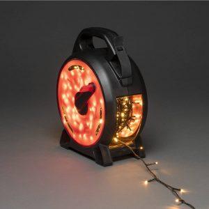 LED-ljusslinga Micro bärnsten 600 lampor 41,93 m